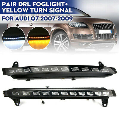 22LED DRL White/&Yellow w//Turn Signal Running Light Controller For Audi Q7 07-09