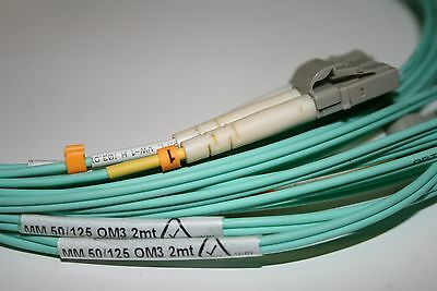 3M OM3 Aqua Fibre Optic LC LC Duplex MM 50 125 Patch LSZH Cable