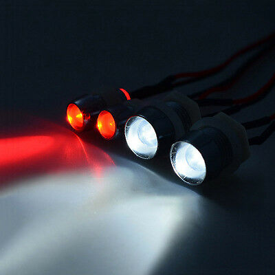 4 Pcs Model Car Headlamps RC Car LED Drift Car Light Car Accessories 3mm
