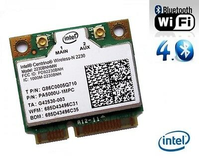 + Intel® Centrino® N 2230  802.11b/g/n WLAN+Bluetooth Mini PCI Express Karte +