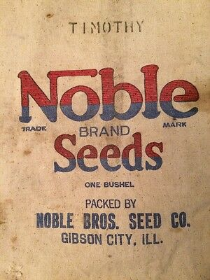 Vintage Feed Sack * Antique Seed Bag w/ Advertising * Farm Decor * Primitive bag