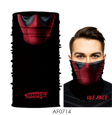 Marvel Comics Deadpool Biker Balaclava Bandana Scarf Face Shield Mouth Mask