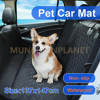 Nonslip Pet Car Back Seat Cover Cat Dog Waterproof Protector Hammock Black Mat