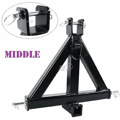 "3 Point 2"" Receiver Trailer Hitch Category 1 Tractor Tow Drawbar Pull Attachment"