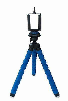 Blue Octopus Adjustable Universal Tripod + Phone Holder for iPhone Samsung Sony