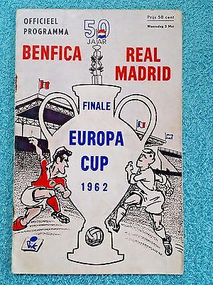 1962 - EUROPEAN CUP FINAL PROGRAMME - BENFICA v REAL MADRID