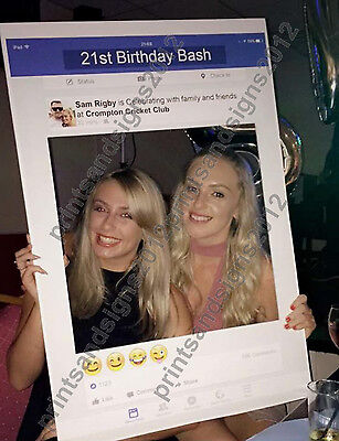 Personalised Facebook Social Media Party Selfie Photo Frame Party Booth Prop A1