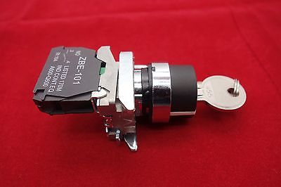 1PC 22mm Key switch 2 Position Fits Metal XB4 BG21 Maintained 1NO