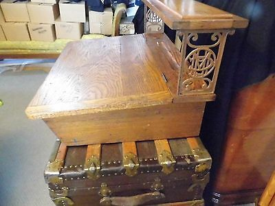 Lovely Antique Oak Table Top Agent Writing Desk Metropolitan Life Insurance
