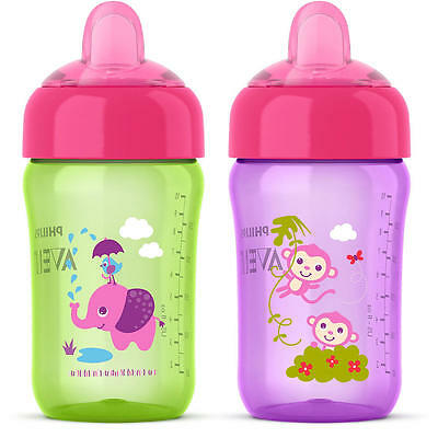 Philips Avent My Sip N Click 12 Ounce Sippy Cup 2 Pack - Green/Purple