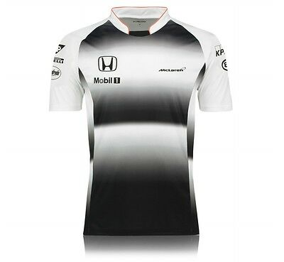 Mens Official McLAREN HONDA T-Shirt F1 Formula One Tee Chest Size Medium / 38""