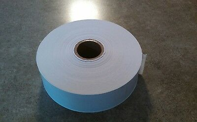 """2 ROLLS - 1,5"""" x 500 Feet Each - Water Activated WHITE KRAFT PAPER TAPE"""