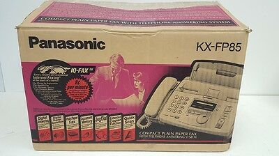 Panasonic KX-FP85 Compact Plain Paper Fax Machine w/Telephone Answering System