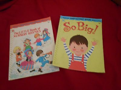 2 vintage wipe clean baby books,1959 and1973