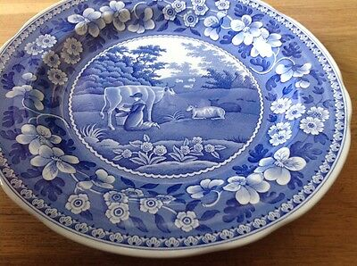 The Spode Blue Room Collection ( Milkmaid ) Cabinet Plate 26.5cm