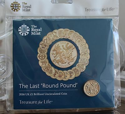 "2016 Royal Mint Last Round £1 pound coin pack  ""Brilliant Uncirculated"""