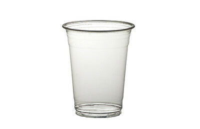 1000 x 9oz Clear Plastic Smoothie Cups 255ml Milkshake Cold Disposable Drink Cup