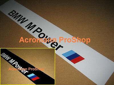 "53"" BMW M Power Windshield windscreen Sun strip visor banner Decal Sticker M3 M4"