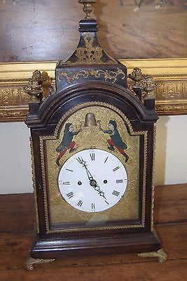 1800's Mahogany Automaton Bracket Clock - Victorian w/ 2 Jacks Striking Bell