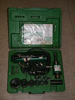 "Greenlee 7306 Knockout Punch Set 1/2"" To 2"" Slug Buster Punches W/ Extras!!!!"