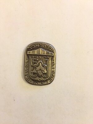 Vintage 50 Years to Tel-Aviv Pin- Symbol From the Holy Land