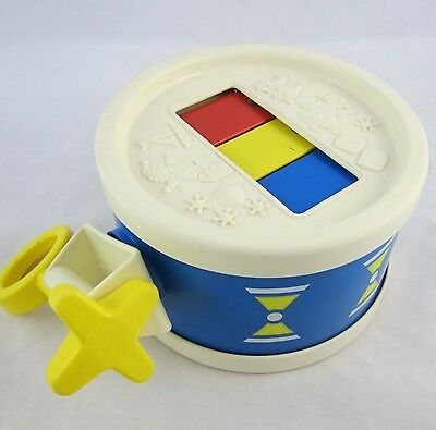 Vintage 1976 Fisher Price Xylo Drum #421 w/ Yellow Drum Stick