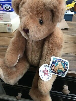 Vintage The Vermont Teddy Bear Company Jointed Bear Rare
