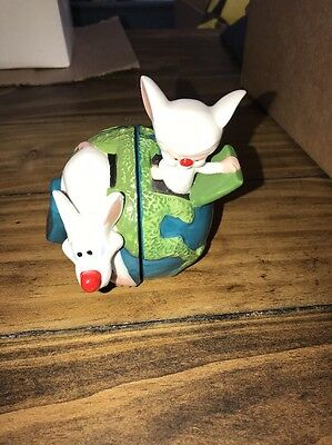 Vintage Pinky and the Brain Salt & Pepper Shakers Rare Nos