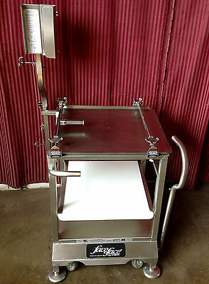 Meat Cheese Slicer Cart Face To Face Deli Stand NSF Commercial Stainless Steel