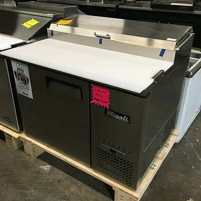 """NEW 44"""" 1 Door Refrigerated Pizza Prep Table Migali C-PP44 #3708 Commercial NSF"""