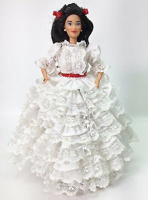 Gone With The Wind Scarlett White Prayer Dress For Barbie By Juanita Miller Used