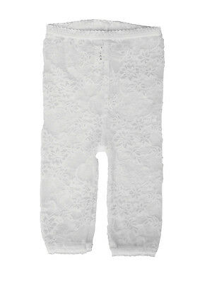 LACY LEGGINGS – White by Baby Bella Maya Size 12-18 Months