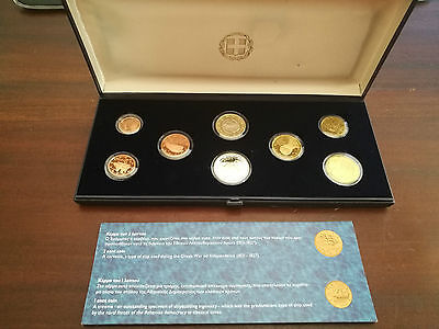 Greece 2011 Complete Euro Coins Proof Set In Original Box & Certificate  Pp Kms