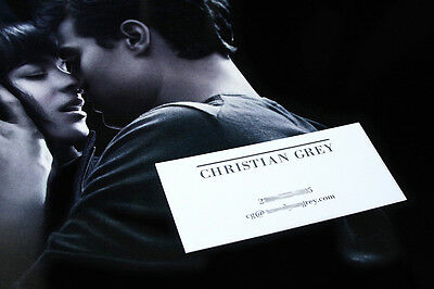 Fifty Shades Of Grey Business Card Exclusive Reproduction Christian Anastasia 50