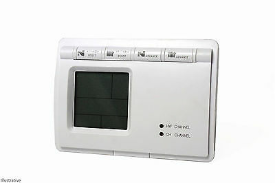 LCD 2 Channel Central Heating / Hot Water 24HR / 7 DAY Programmer Switch