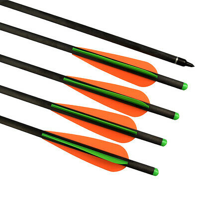 "6pk 20"" New Crossbow Bolts Hybrid Carbon Arrows #2219 Archery Hunting Shooting"