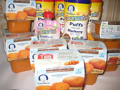 Lot of Gerber baby food