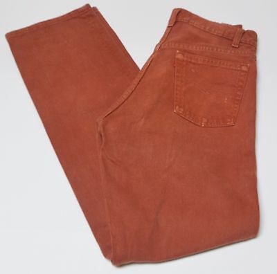 LEVIS VINTAGE JEANS W29 L35 Zipper Rust Color MADE IN USA Blank Red Tab 80s-90s