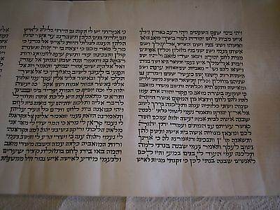 A Vintage 20Th Century Jewish  Megilat Ruth  Manuscript On Parchment Scroll