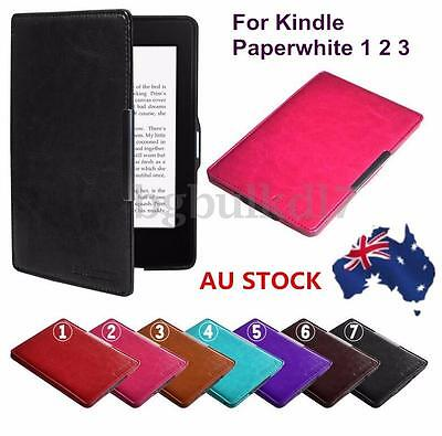 Leather Case Smart Cover Slim Magnetic for Amazon Kindle Paperwhite 1 2 3
