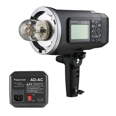 Godox AD600BM HSS Portable Flash Strobe Light Bowens Mount + AD-AC Power Adapter