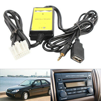 Car MP3 USB Adapter AUX Interface Audio Cable Virtual CD Changer AP For Mazda