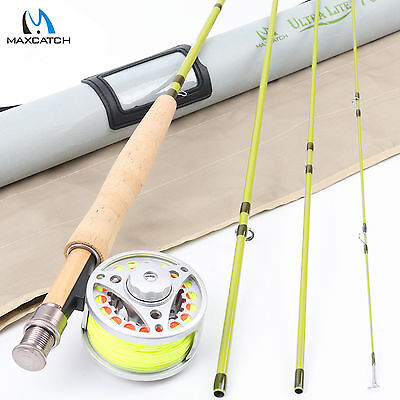 Maxcatch 3WT 7' Fly Fishing Combo Fly Rod&Fly Reel&Fly Line&Backing&Leader