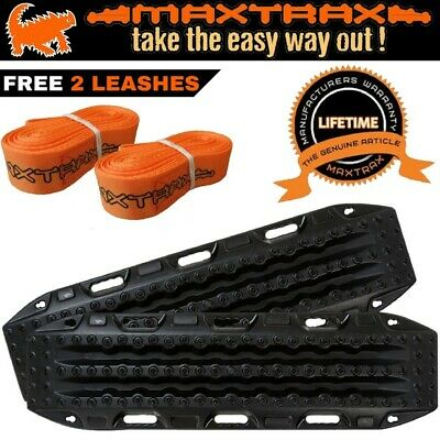 MAXTRAX 4WD Recovery Tracks Device Max Trax Ramps for 4x4 Sand Mud - Black Pair