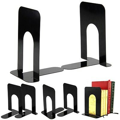 """Heavy Duty Metal Bookends Book Ends Home & School Office Stationery - 4 Pairs 8"""""""