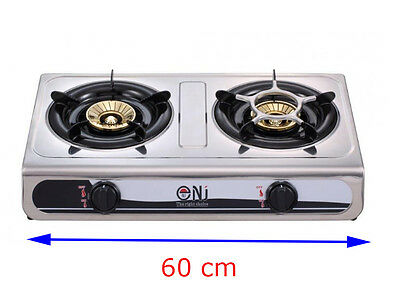 60cm Gas Stove Cooker 2 burner Portable Camping Outdoor BBQ NGB-60 7.6kW NEW