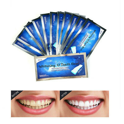 28 3D Professional Teeth Whitening Strips Tooth Rapid Bleaching Whitestrips Home
