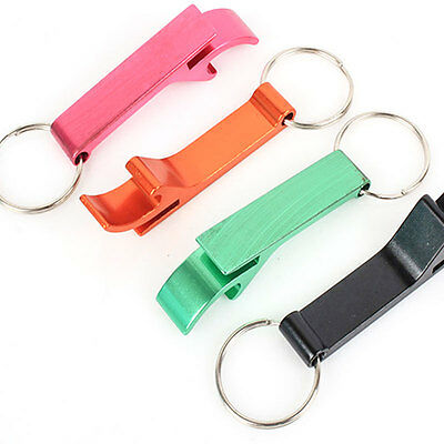 Multifunction Outdoor EDC Bottle Opener Key Ring Keychain Survival Tool