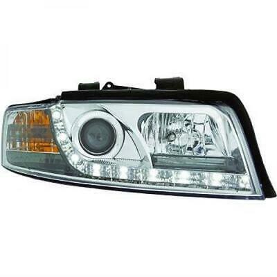 Audi A4 LED DragonLights Daylight Designscheinwerfer Klar / Chrom Bj.00-04
