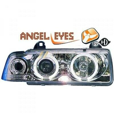 BMW 3er E36 Angle Eyes Designscheinwerfer SET Chrom incl. Blinker